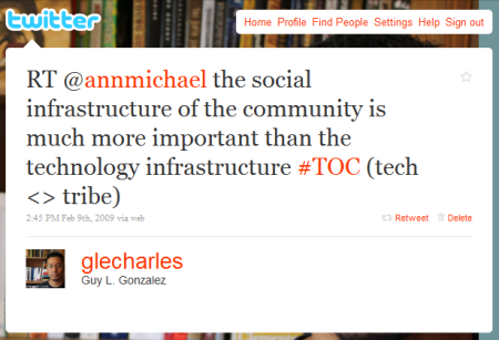 """The social infrastructure of the community is much more important than the technology infrastructure."""